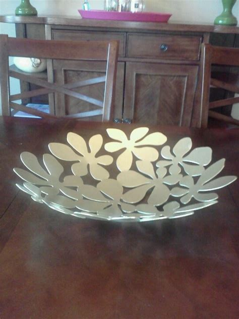 IKEA Stockholm bowl spray painted gold.   Home Stuff