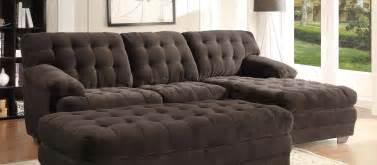 plush sectional sofas chocolate plush microfiber sectional sofa