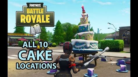 fortnite br birthday  cake locations dance  front