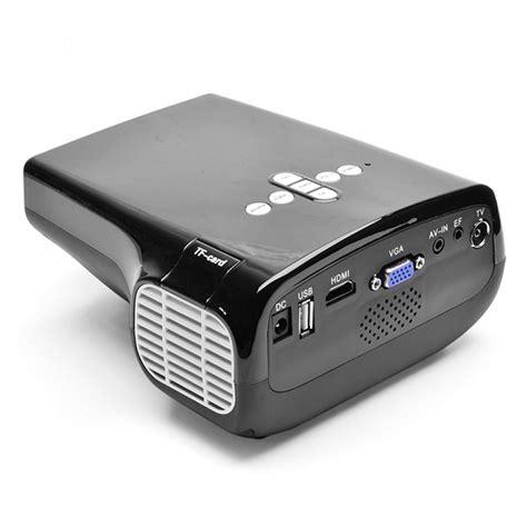 Portable Led Projector 50 Ansi Lumens Interfac Remote Black portable led projector 50 ansi lumens interface