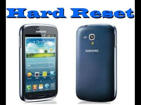 reset samsung without password hard reset samsung galaxy core i8262 youtube