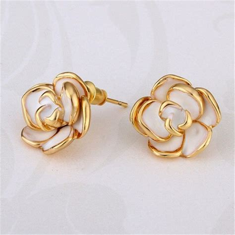 Anting Panjang Gold Imitasi gambar lingkaran hoop earrings wanita gadis kecil anting