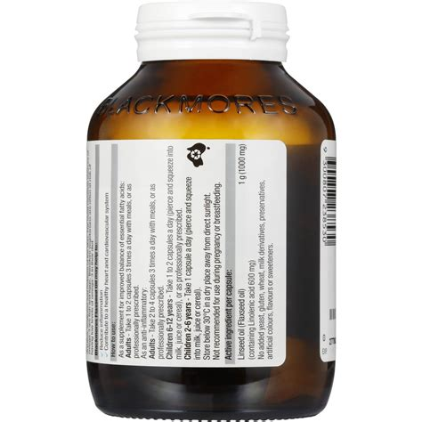 Blackmores Flaxseed 1000mg blackmores anti inflammatory flaxseed 1000mg 100pk