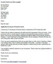 security officer cover letter sle security guards