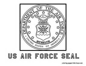 US Air Force Seal  Coloring Pages For Kids Pinterest sketch template