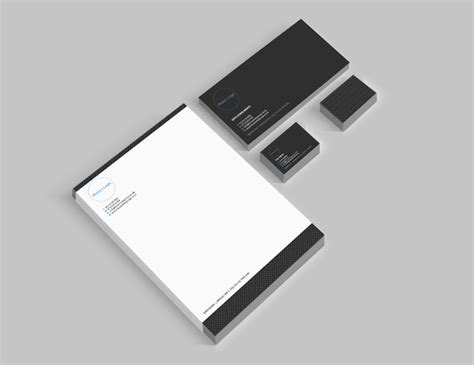 free business card letterhead and compliment slip