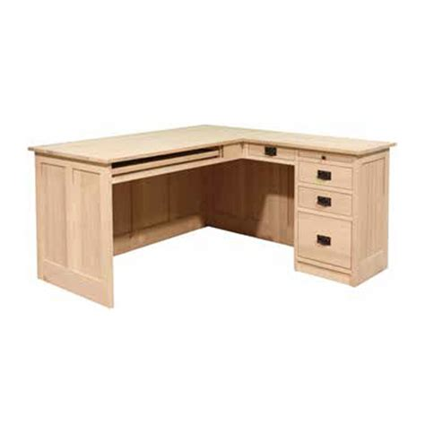 Mission Desk L by Mission L Shaped Desk Lloyd S Mennonite Furniture