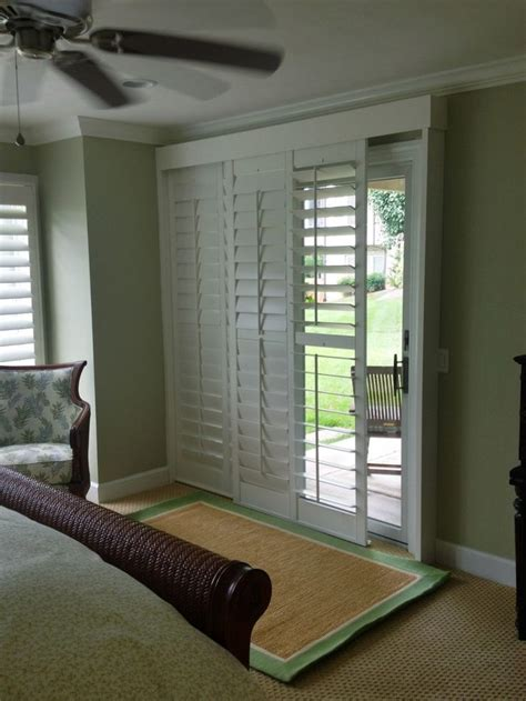 shutters for sliding glass doors 17 best images about plantation shutters on window treatments interior doors
