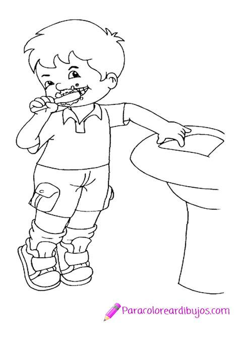 dibujo de ni a cepill ndose los dientes para colorear dibujo para colorear de ni 241 o cepillandose los dientes