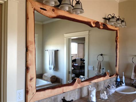 Large Bathroom Wall Mirror Large Bathroom Wall Mirror With Rustic Carbonized Pine Wood Frame Of Astonishing Wooden Framed