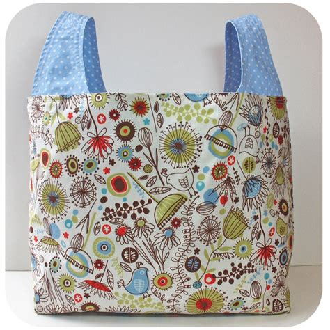 Patterns Tote Bags Sewing | image of grocery bag pdf sewing pattern n 228 hen