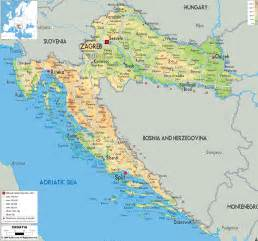 maps of physical map of croatia ezilon maps