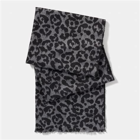 couch scarf coach bicolor wild beast scarf in gray for men lyst