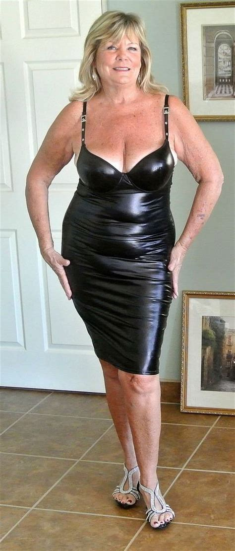 elderly women dresses and heels black shiny dress sexy grannys pinterest posts