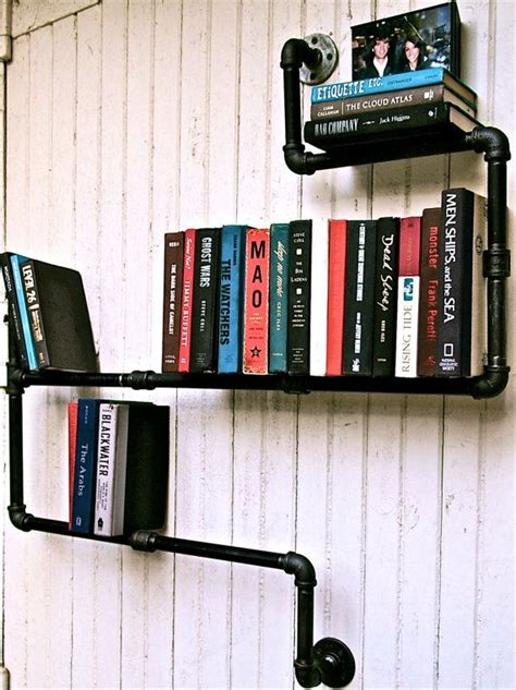 cast iron pipe book shelf country