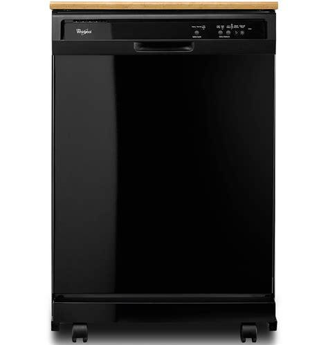 best whirlpool dishwasher whirlpool black portable dishwasher wdp340pafb