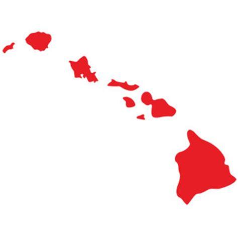 hawaiian island colors big hawaiian islands sticker large islands decal for