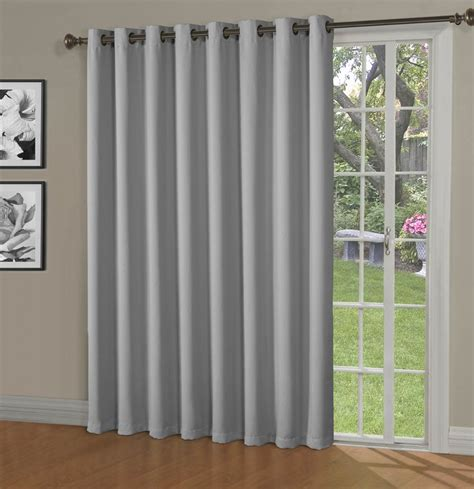 Maya Blackout Thermal Patio Door Extra Wide Grommet Grommet Drapes For Sliding Glass Doors