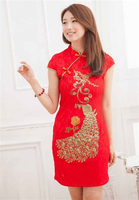 Supplier Baju Fla Top Hq dress cheongsam merah modern terbaru model terbaru jual murah import kerja
