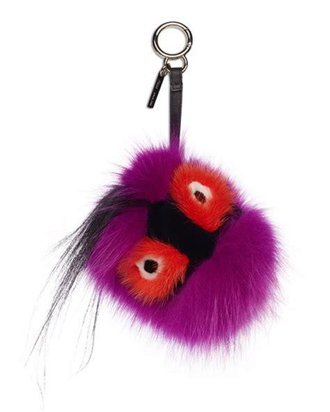 fendi fur charm for handbag multi