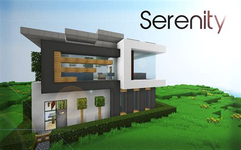 minecraft modern house floor plans serenity 16x16 house minecraft project minecraft minecraft projects serenity