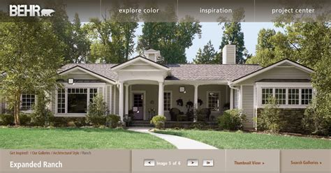 Exterior House Colors For Ranch Style Homes Frou Frou Maison September 2010