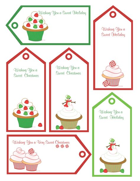 best photos of homemade christmas gift tags templates