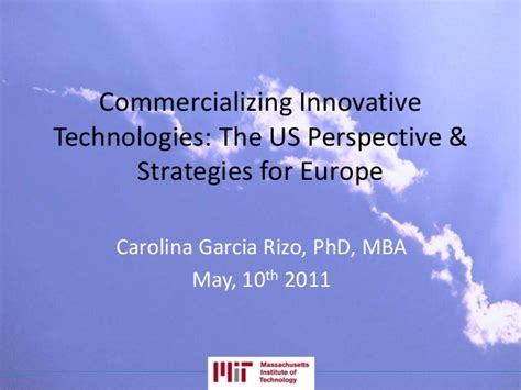Mba Carolina Strategy by Dr Carolina Garcia Rizo Commercializing Innovative