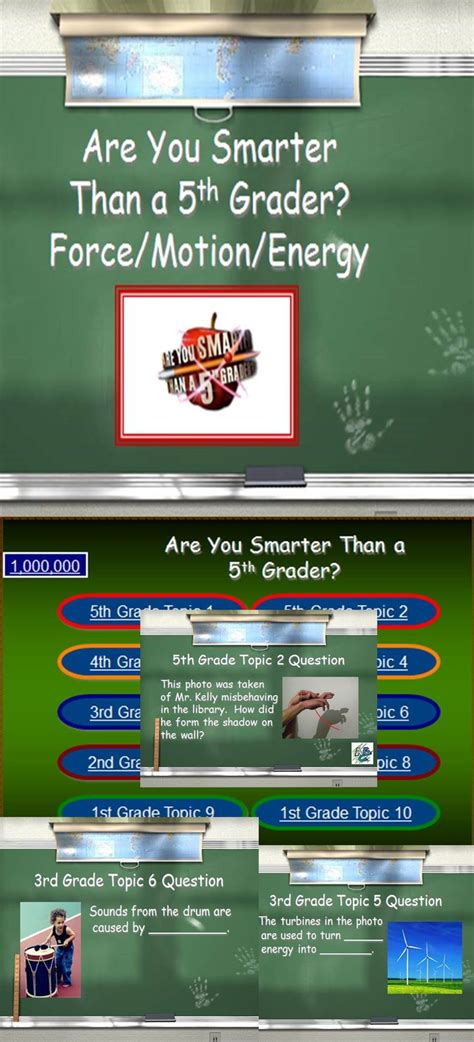 are you smarter than a 5th grader powerpoint template 39 best motion images on teaching