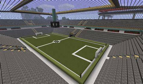 Cool Ceiling Lights Minecraft Soccer Stadium With Switchable Lights And Vip