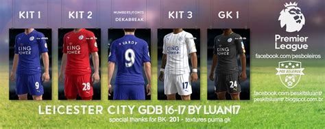 Jersey Leicester Gk Hitam 1617 pes 2013 five new kits 16 17 by luan17 12 07 pes patch