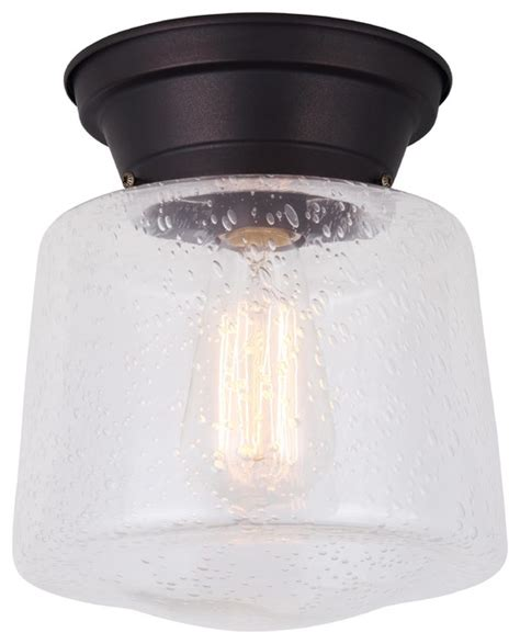 seeded glass flush mount light canarm mill 1 light flush mount seeded glass rubbed