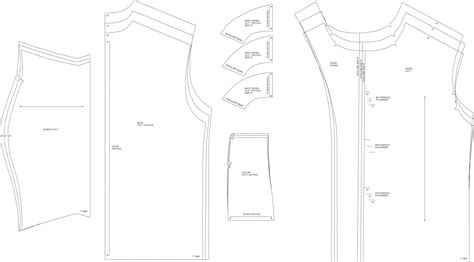 lining t shirt pattern pattern templates from issue 40 sew hip