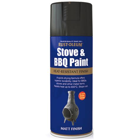 rustoleum heat resistant matt black spray paint for barbecues stoves exhausts ebay