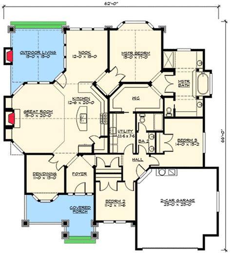 floor plans with garage on side plan 23375jd front or side garage you choose 3 car garage house plans and craftsman