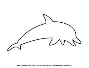 dolphin cut out template free dolphin clipart printable coloring pages outline
