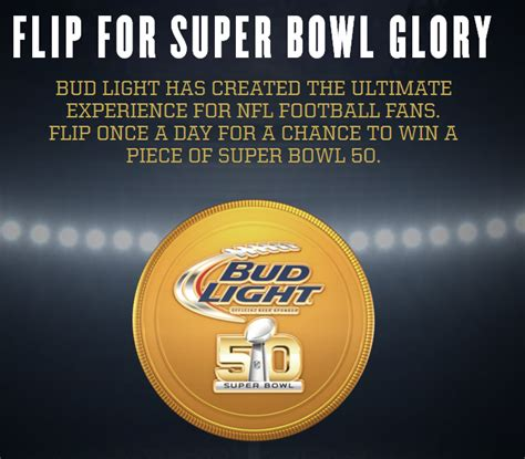 bud light superbowl sweepstakes bud light super bowl coin toss instant win game thrifty