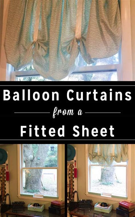 how to make curtains from sheets quick and easy diy balloon curtains from a fitted sheet crafting a