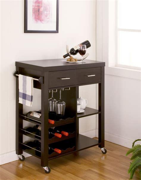 modern black kitchen island cart cabinet wine bottle glass kitchen carts kitchen island carts sears