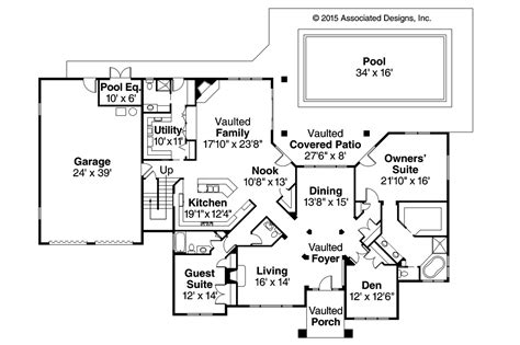 floor plan home tuscan house plans meridian 30 312 associated designs