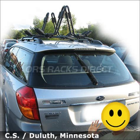 Subaru Outback Rack System by Subaru Outback Kayak Racks For Factory Rack Install