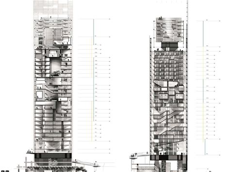 High Rise Building Floor Plan by Vertical Restructuring High Rise Tower Rehabilitation Nantes