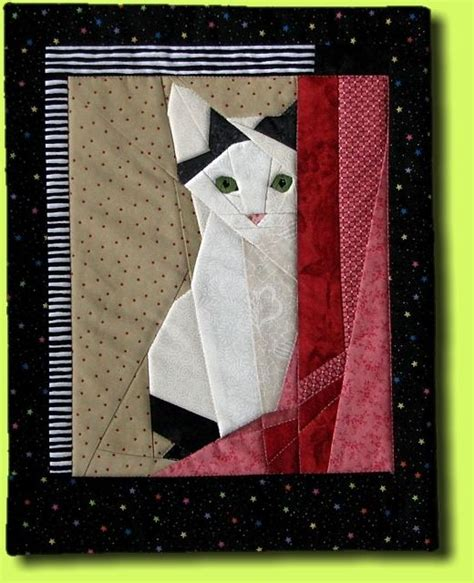 Patchwork Cat Quilt Block Patterns - germany cat quilt and cats on