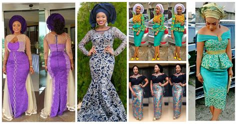 latest ashoebi lace styles latest lace and ankara aso ebi styles for you this week