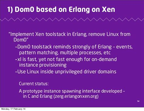 pattern matching linux erlang on xen redefining the cloud software stack