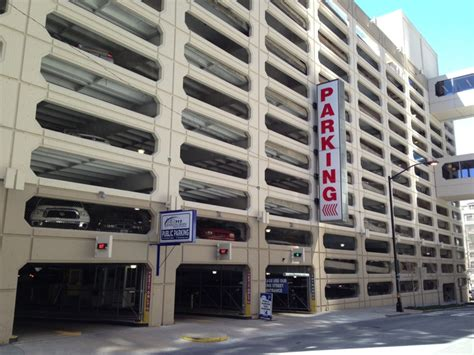 Parking In The Garage by 150 Carnegie Way Parking Garage Downtown Atlanta Ga