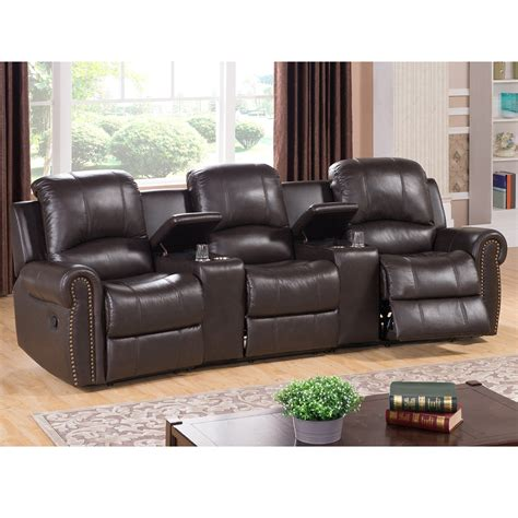 amax bloomington leather home theater recliner wayfair