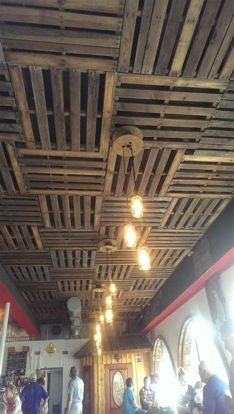 wood grid ceiling 25 best ideas about pallet ceiling on wood