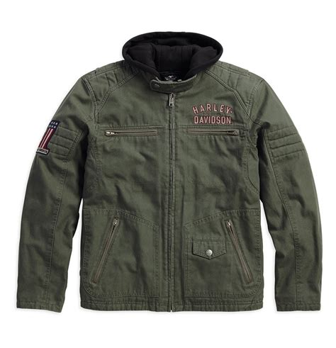 Harley Davidson 3 In 1 Jacket by Harley Davidson Mens Way 3 In 1 Jacket Olive Green