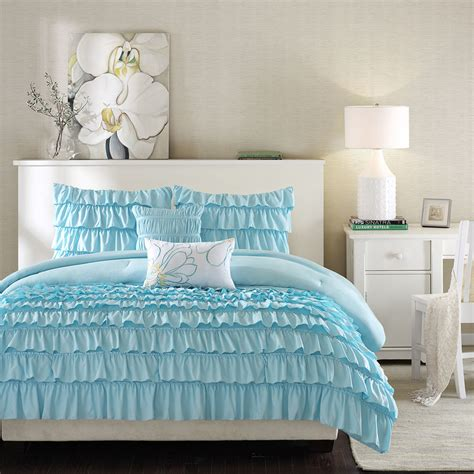 baby blue comforter sets beautiful blue light baby teal soft modern teen girl